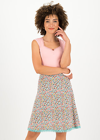 Jersey Skirt secret showgirl, fine flower, Skirts, White