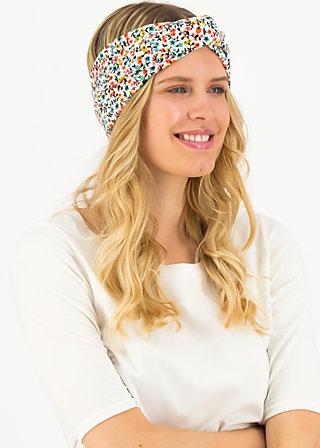 sunset knot hairwrap, fine flower, Accessoires, White