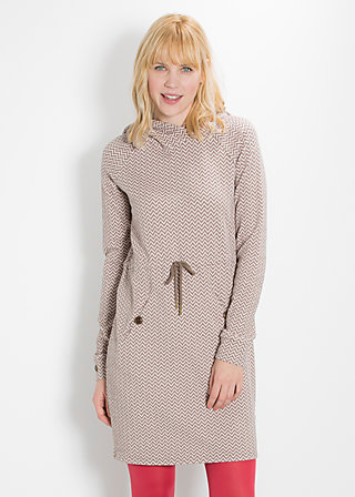 ciao djellabella longsweat, soft waves, Pullover, Braun