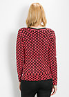 leisurehood cardy, red starshower, Cardigans, Rosa