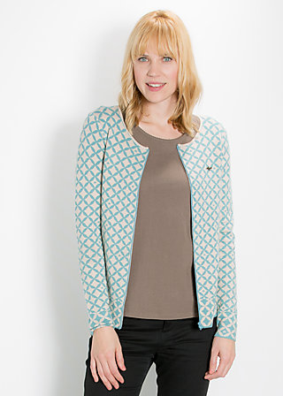 leisurehood cardy, gray starshower, Cardigans, Blau