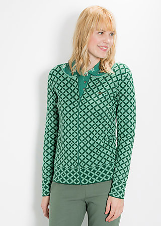 leisurehood cardy, green starshower, Cardigans, Grün