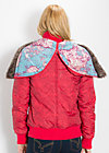 love me aviator jacket, warm wind rose, Jacken & Mäntel, Rot