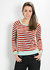 luftstrom sweat, saturn stripes, Shirts, Grün