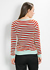 luftstrom sweat, saturn stripes, Pullover & Hoodies, Grün