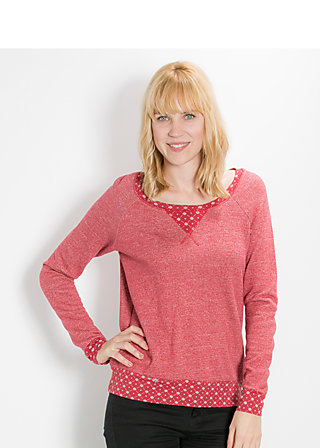 mondfrau sweat, centre of earth, Pullover, Rot