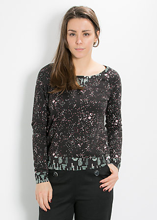 mondfrau sweat, shuttle to the moon, Pullover, Schwarz