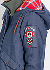 rock`n`royal air parka, non stop flight, Coats, Blau