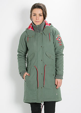 rock`n`royal air parka, aviator green, Jacken, Grün