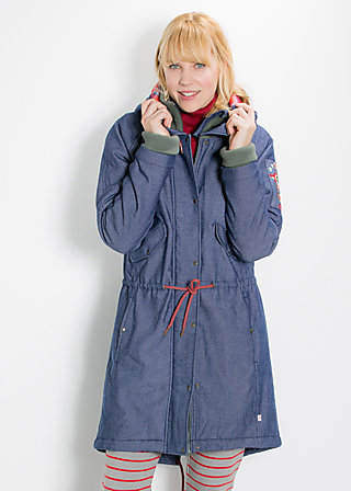 rock`n`royal air parka, non stop flight, Jackets, Blau