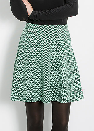 rocket skirt, landscape waves, Jerseyröcke, Grün