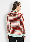 schmuse operator hoody, saturn stripes, Pullover, Grün