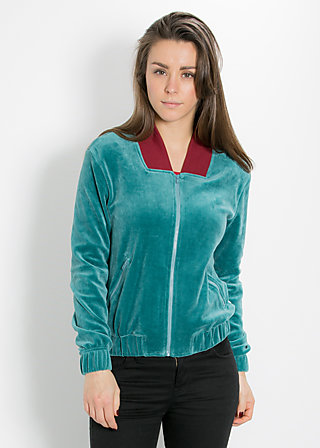 tiny bomber zip, good weather, Cardigans, Blau
