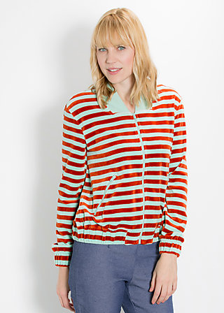 tiny bomber zip, saturn stripes, Cardigans, Grün