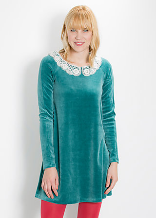 velvet bubi dress, good weather, Kleider, Blau