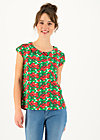 Jersey T-Shirt botanical bubi, cherry caprese, Shirts, White