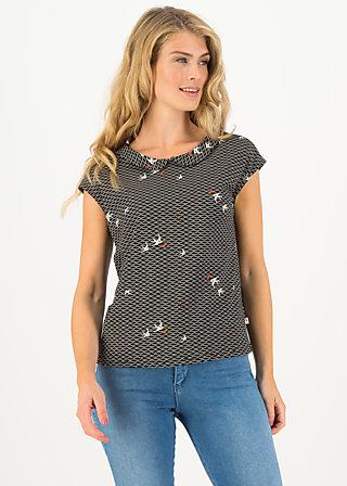 Jersey T-Shirt botanical bubi, zwaluw zee, Shirts, Schwarz