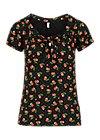 Jersey Top carmelita, cherry ladybug, Shirts, Black