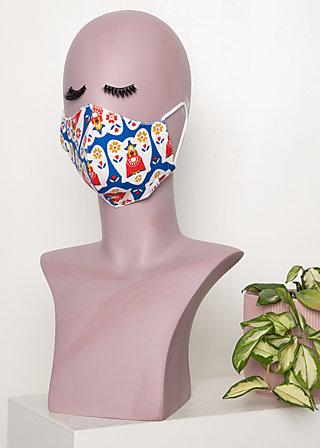 community mask (1 pcs), antje van ameland, Blue