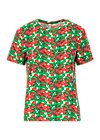 Jersey T-Shirt diamond heart, cherry caprese, Shirts, Weiß