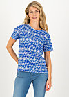Jersey T-Shirt diamond heart, dutch delft, Shirts, Blau