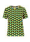 Jersey T-Shirt diamond heart, tulpé olé , Shirts, Schwarz
