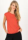 Jersey T-Shirt flowgirl, bloemen meisje, Shirts, Red
