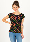 Jersey T-Shirt flowgirl, cherry ladybug, Shirts, Black