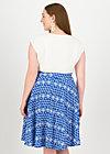 Circle Skirt fullmoon, dutch delft, Skirts, Blue