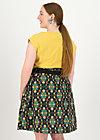 Circle Skirt hello love, ene mene meester, Skirts, Black