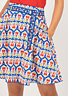 Circle Skirt hello love, antje van ameland, Skirts, Blue