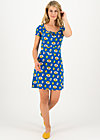 Sommerkleid heart on fire, appel en peren , Kleider, Blau