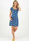 Summer Dress heart on fire, appel en peren , Dresses, Blue