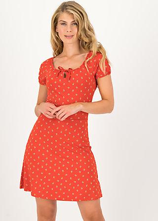 Sommerkleid heart on fire, bloemen meisje, Kleider, Rot