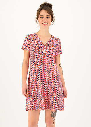 Summer Dress small and fijn, bloemenmarkt, Dresses, Red