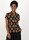 Shirt Blouse sunny me, laatste lieve, Blouses & Tunics, Black