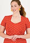Sommerkleid urlaub auf balkonien, bloemen meisje, Kleider, Rot
