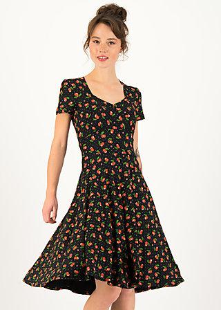 Summer Dress urlaub auf balkonien, cherry ladybug, Dresses, Black