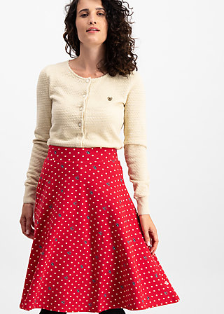 die hosen an glocke, dots of love, Jersey Skirts, Rot