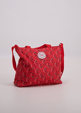 eternal love shopper, lady and bug, Accessoires, Red