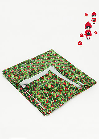 single jersey fabric, red riding hood, Accessoires, Green