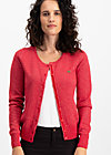 ladyklappe cardigan, christmas red, Pullover & leichte Jacken, Rot