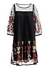 robe de coralie , night floral tulle, Webkleider, Schwarz