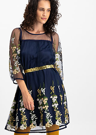 robe de coralie , ice floral tulle, Kleider, Blau