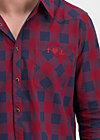 the true cowboys shirt, lukes check, Blutsbruder, Rot