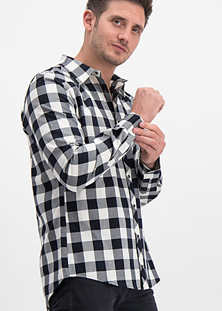 Shirt the true cowboys, daltons check, Blutsbruder, Black