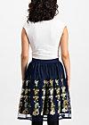 tirilie tuilerie skirt, ice floral tulle, Skirts, Blue
