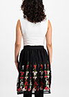 tirilie tuilerie skirt, night floral tulle, Röcke, Schwarz