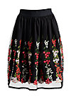 tirilie tuilerie skirt, night floral tulle, Skirts, Black