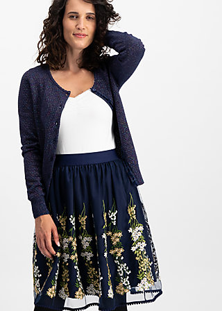 tirilie tuilerie skirt, ice floral tulle, Röcke, Blau